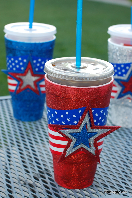 make festive cups for the 4th of July tutorial | NoBiggie.net