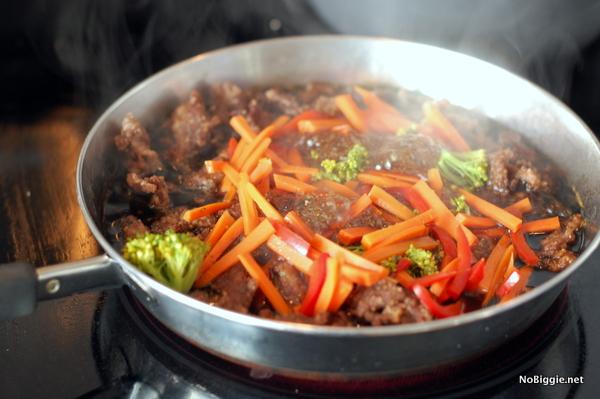 mongolian beef stirfry - NoBiggie.net