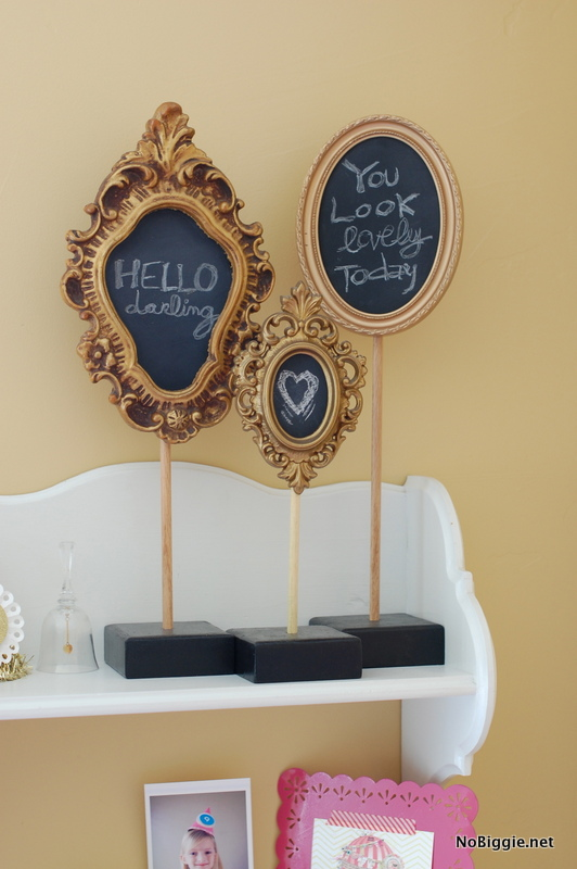vintage inspired pedestal chalkboards | NoBiggie.net