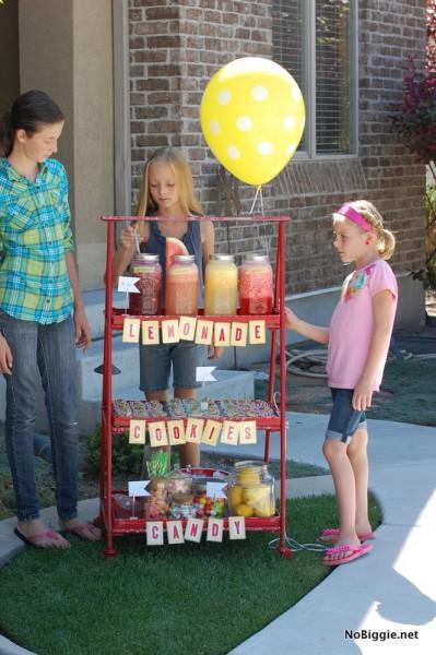 DIY gourmet lemonade stand - ideas NoBiggie.net