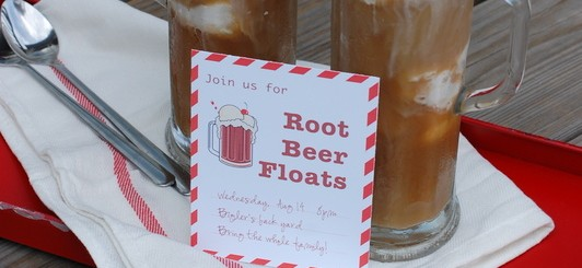 Root Beer float party invitations (free download) - NoBiggie.net