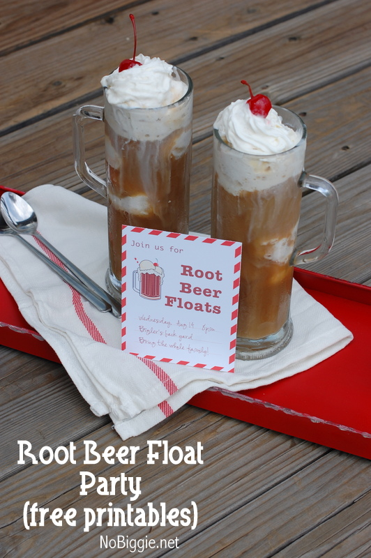 root beer float party invite free printable