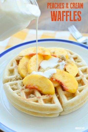 Peaches and Cream Waffles
