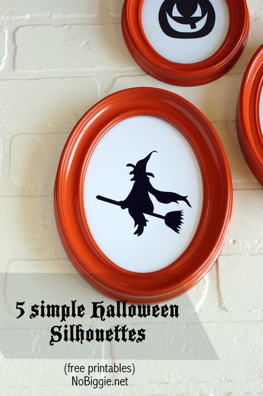 5 simple Halloween Silhouettes | free printables | NoBiggie.net