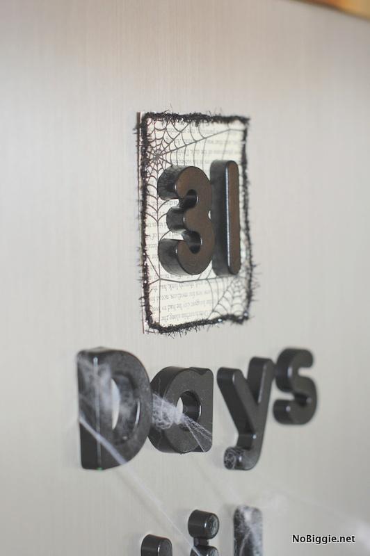 DIY Halloween fridge magnets & countdown | NoBiggie.net
