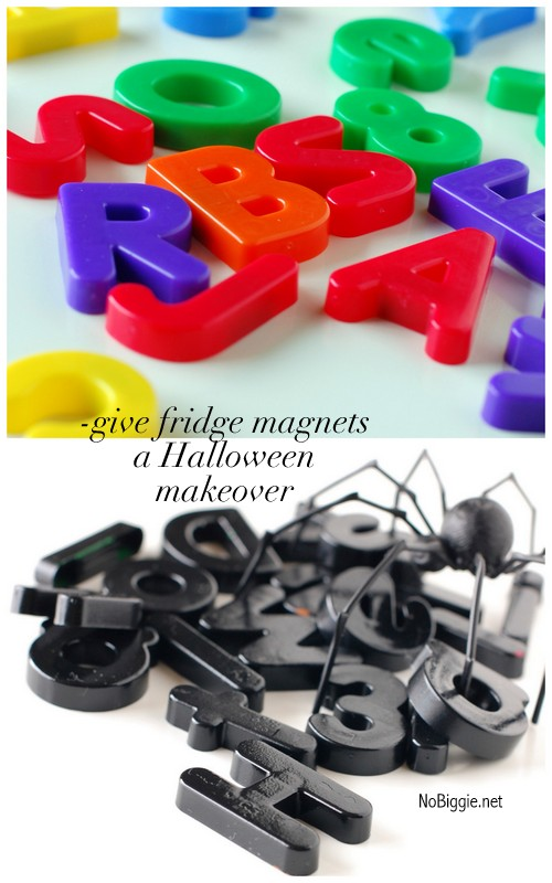 give fridge magnets a Halloween makeover | NoBiggie.net