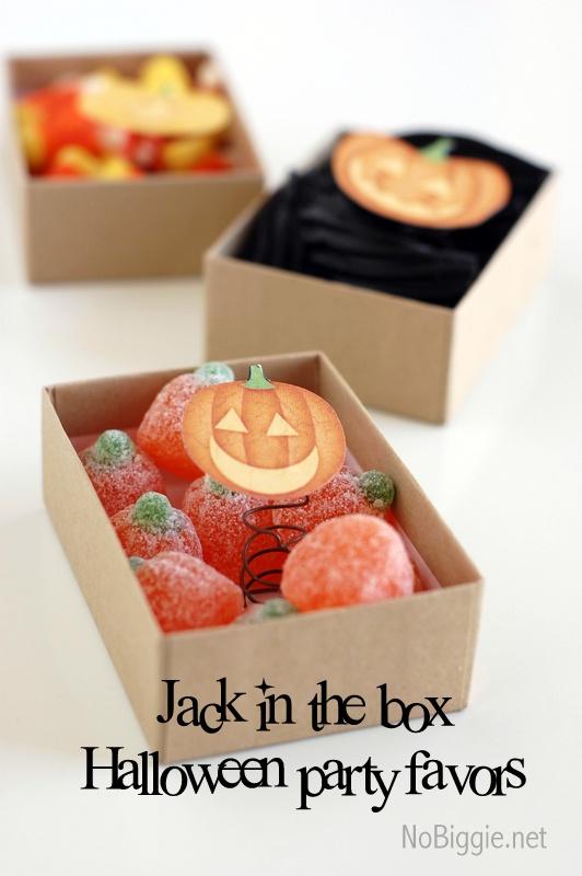make a pop up jack o lantern (Jack in the Box) for a fun Halloween treat | NoBiggie.net