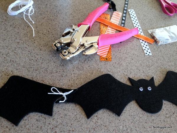 DIY Halloween garland - NoBiggie.net