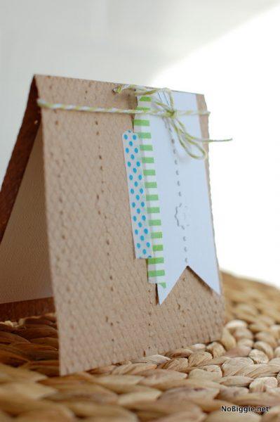 DIY embossed kraft card - NoBiggie.net