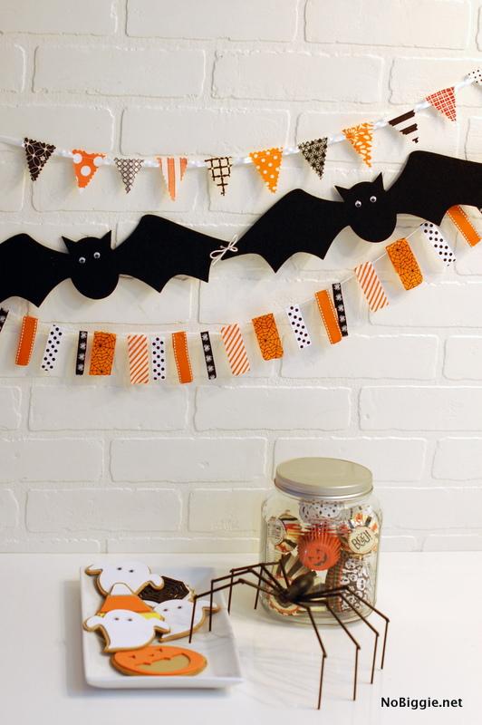 Halloween garland how-to - NoBiggie.net