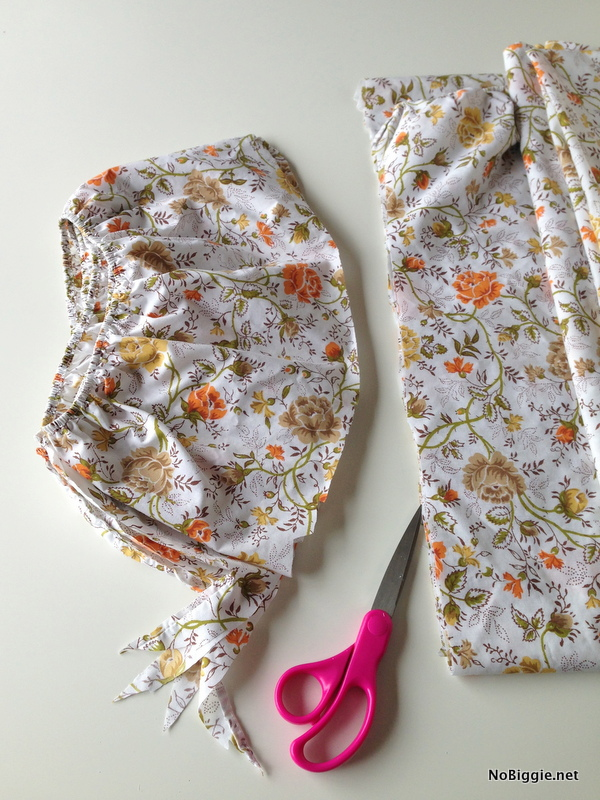 Step one | How to upcycle a fitted sheet | NoBiggie.net