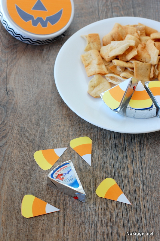 crackers and cheese free printable for Halloween parties - NoBiggie.net