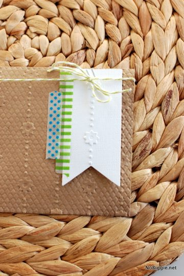 Embossed handmade cards + a quick tip