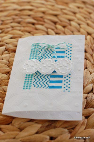 embossed washi tape - so fun! I love this - NoBiggie.net
