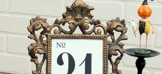 free printable fancy table numbers for weddings or holidays (1-31) via NoBiggie.net