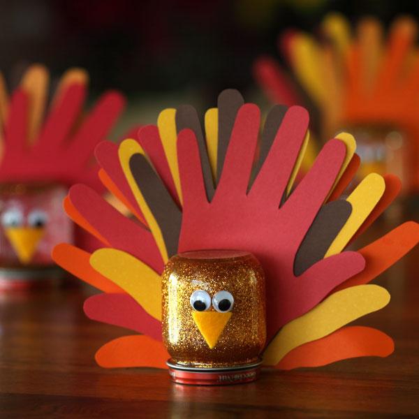 hand print turkey craft