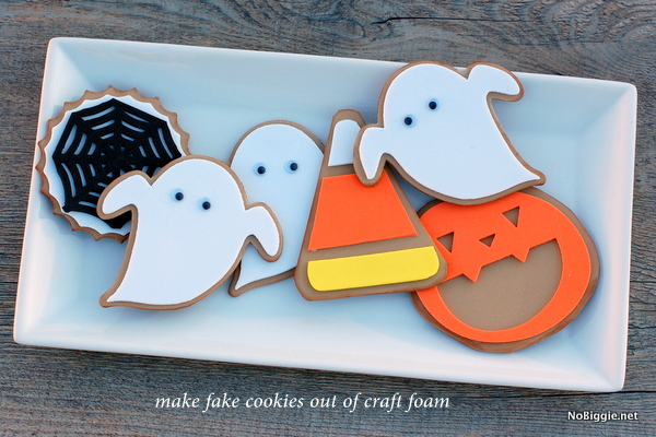 make fake cookies out of craft foam - get the How To on NoBiggie.net