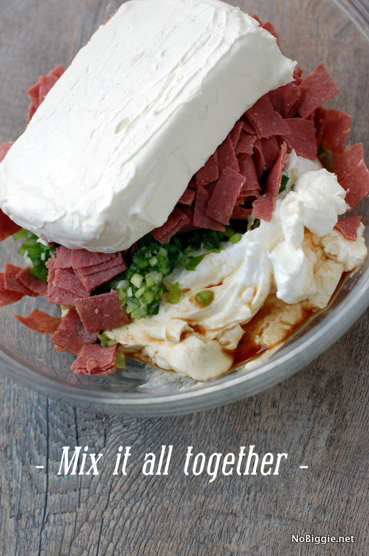 Mix it all together to make - Hot Chipped Beef - NoBiggie.net