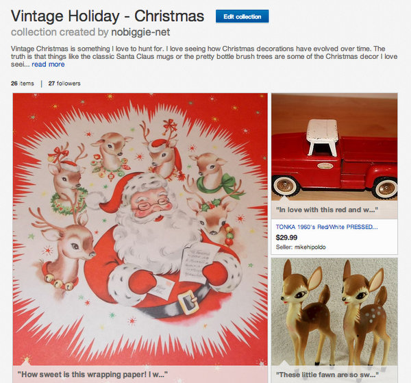 Vintage Christmas collection on Ebay