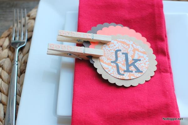glitter stamped Clothes pin craft | NoBiggie.net