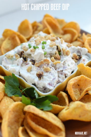 Hot Chipped Beef Dip Appetizer