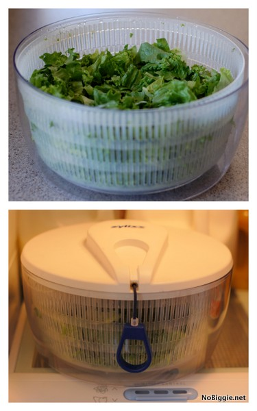 use your salad spinner as a crisper for your lettuce - NoBiggie.net