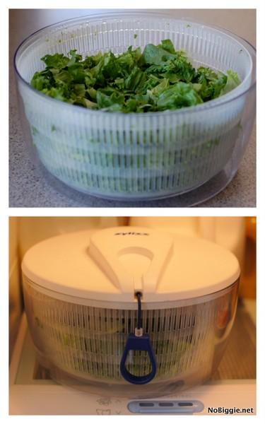 use your salad spinner as a crisper for your lettuce - NoBiggie.net