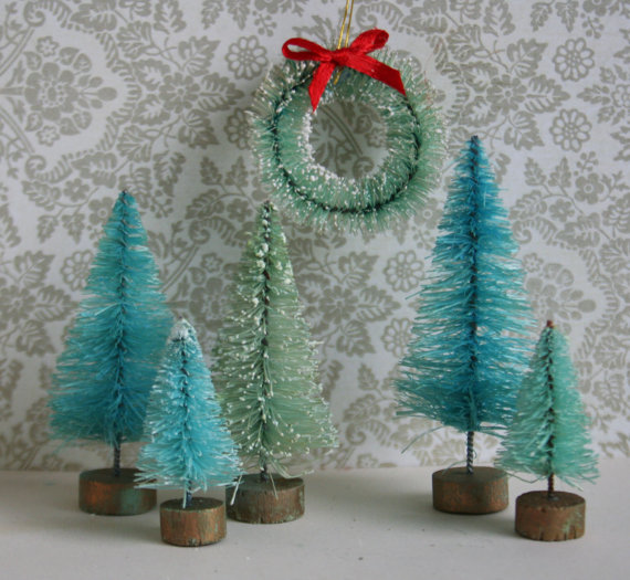 Small Bottle Brush Christmas Trees