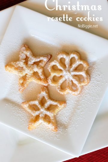 Christmas rosette cookies
