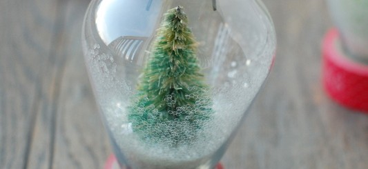 DIY snow globe ornament #fabulouslyfestive - NoBiggie.net
