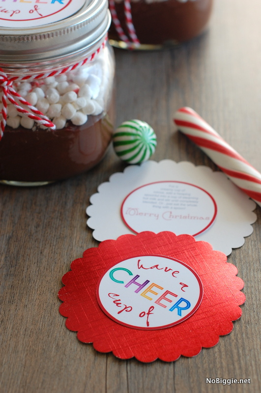 Have a Cup of Cheer - free printable tag   - NoBiggie.net