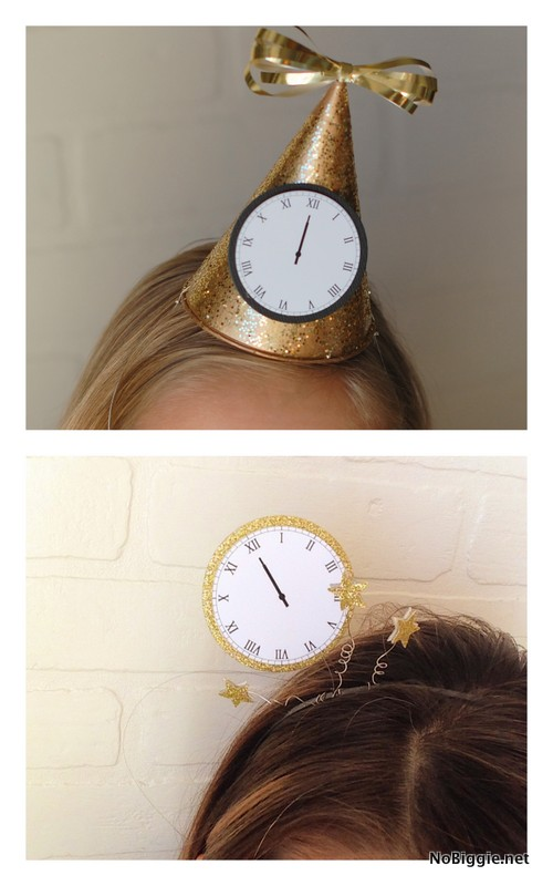 Make a headband or a party hat to Celebrate New Year's Eve | NoBiggie.net