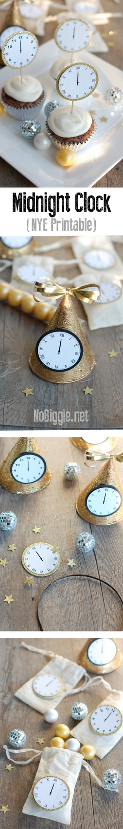 New Year's Eve Midnight Clock printable | NoBiggie.net