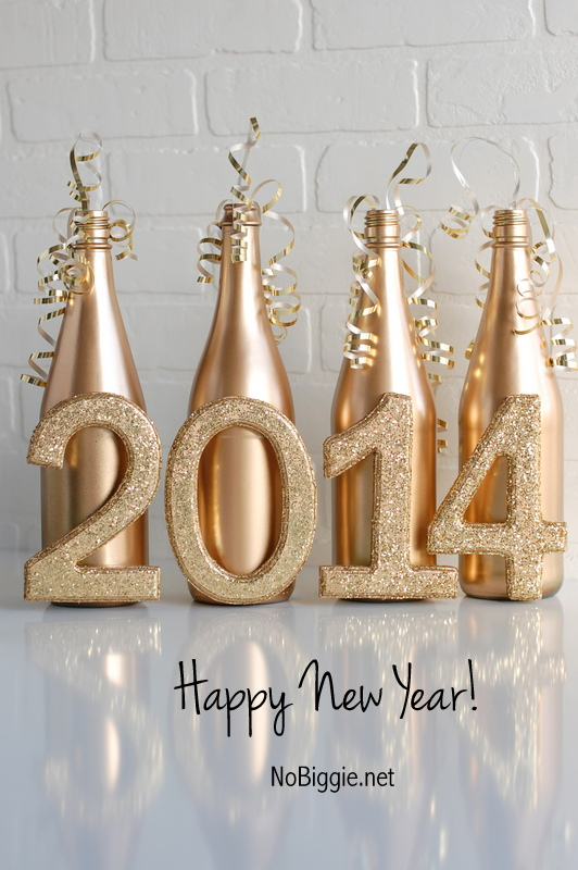 New Year's Eve centerpiece via NoBiggie.net