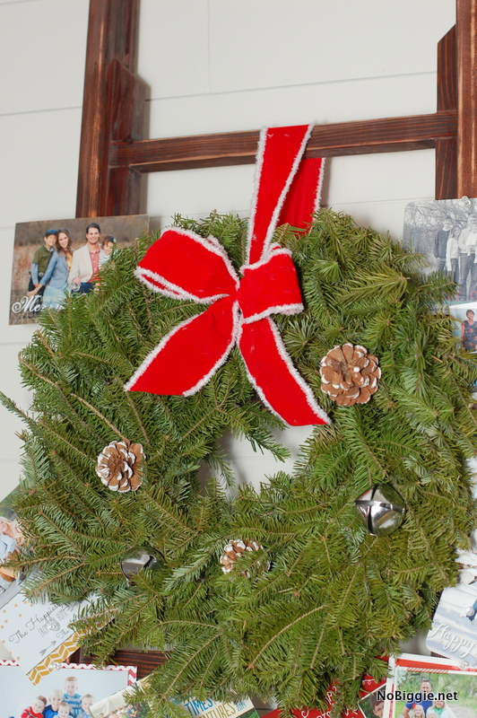 fresh wreath on a ladder - NoBiggie.net