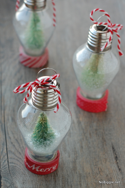 make your own snow globe ornament | NoBiggie.net