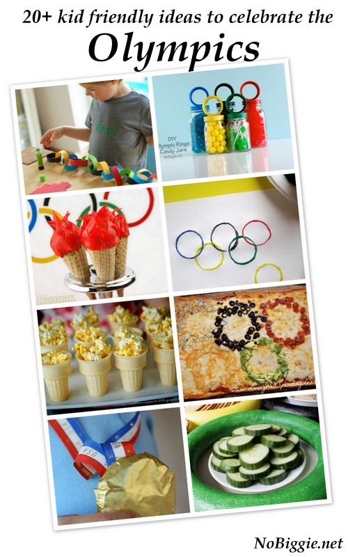Kid friendly Ideas to celebrate the Olympics. #olympics #kidfriendlyolympics #olympicparty