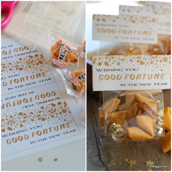 Good Fortune printable treat topper | NoBiggie.net