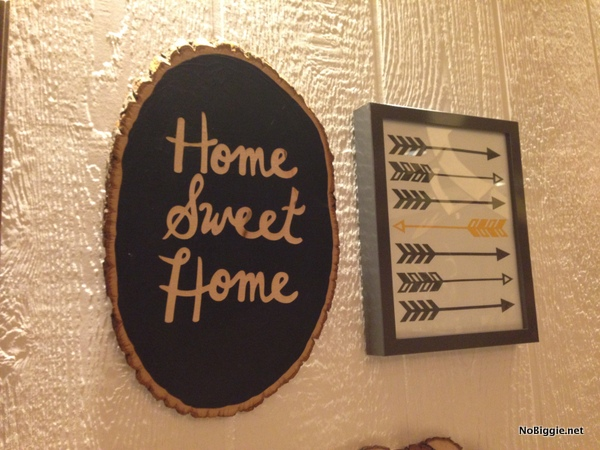 Home Sweet Home wall decor at the Cricut Explore launch party