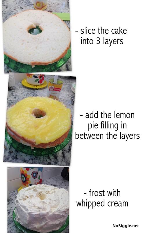How to assemble a Lemon Angel Food Cake | NoBiggie.net