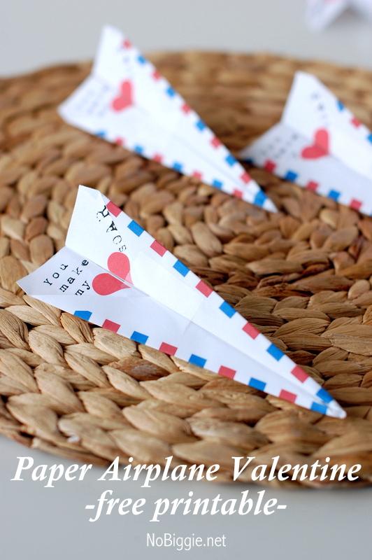 Paper Airplane classroom Valentine | NoBiggie.net