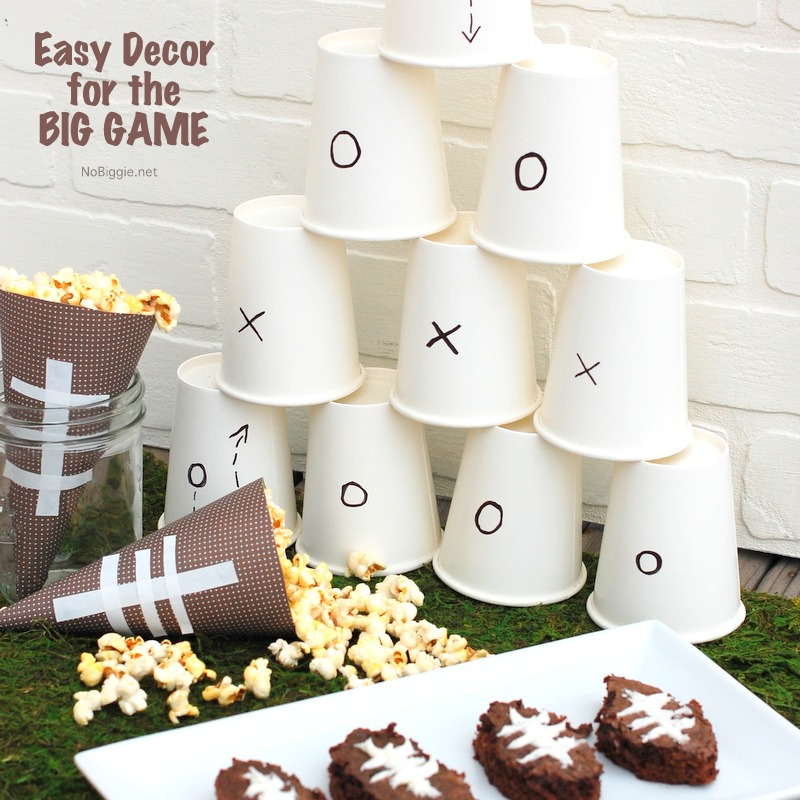 Super easy Decor for the BIG GAME | NoBiggie.net