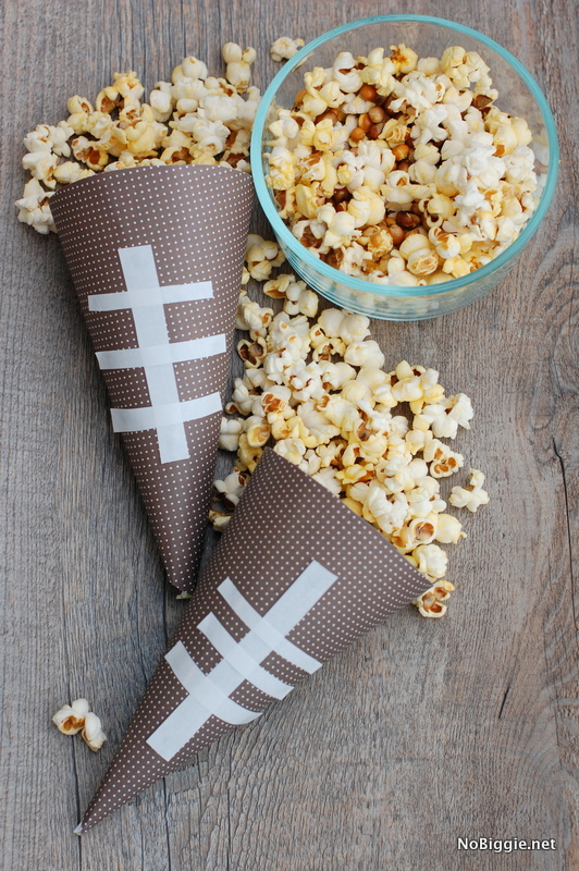 Superbowl party treat cones - NoBiggie.net