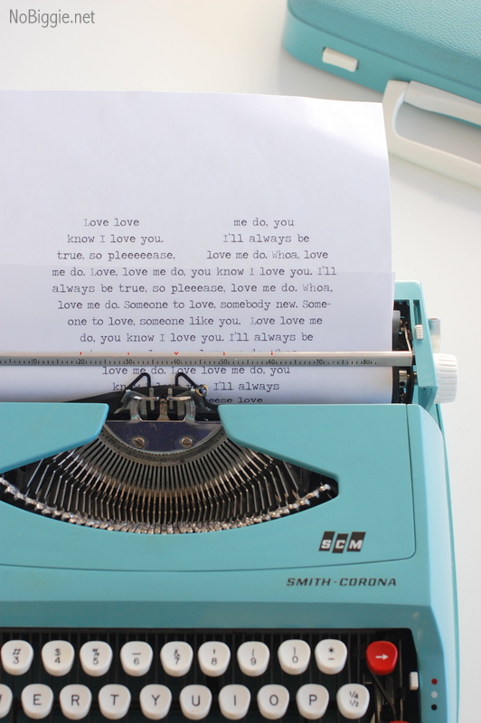 Love me do lyrics – free printable