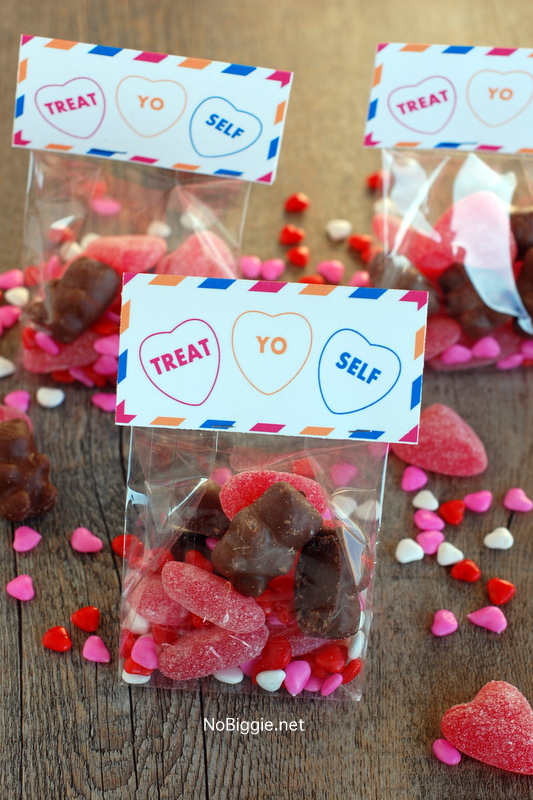 Treat Yo Self treat bag toppers - free printable via NoBiggie.net