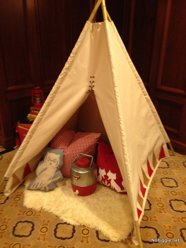 a teepee at the Cricut Explore launch party
