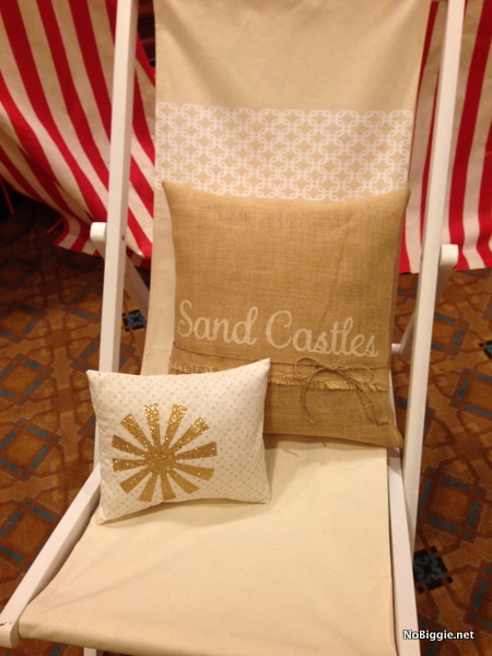 beach chair at the Cricut Explore launch party