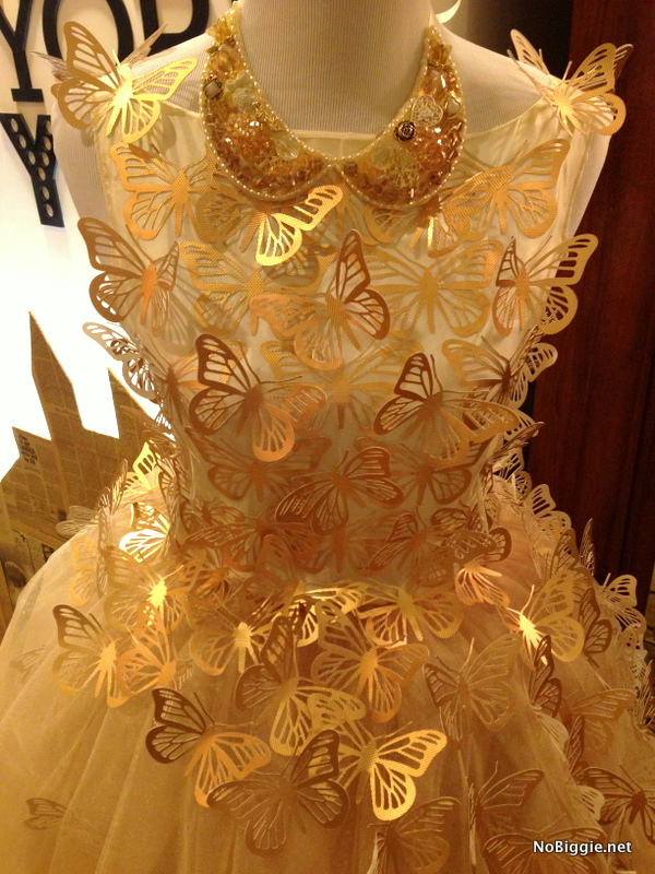 beautiful paper butterfly dress made with the new Cricut Explore machine