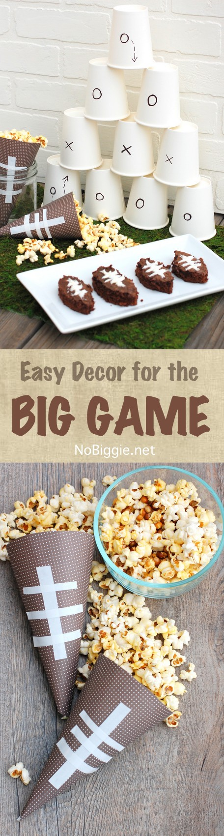 easy decor for the big game | NoBiggie.net
