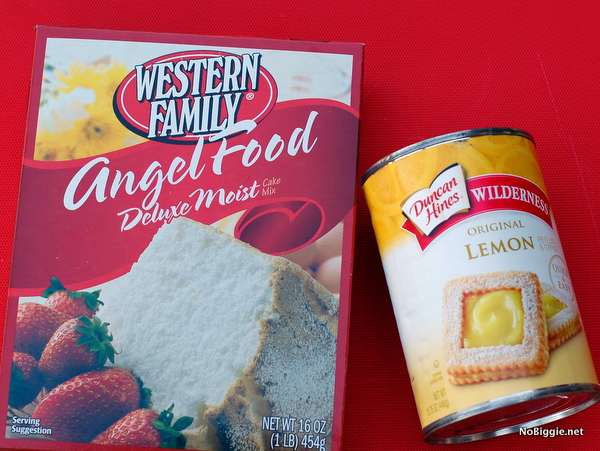 Angel Food Cake With Can Of Lemon Pie Filling